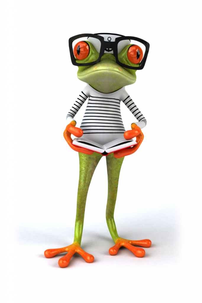 frog images shows how to be productive without eating the frog